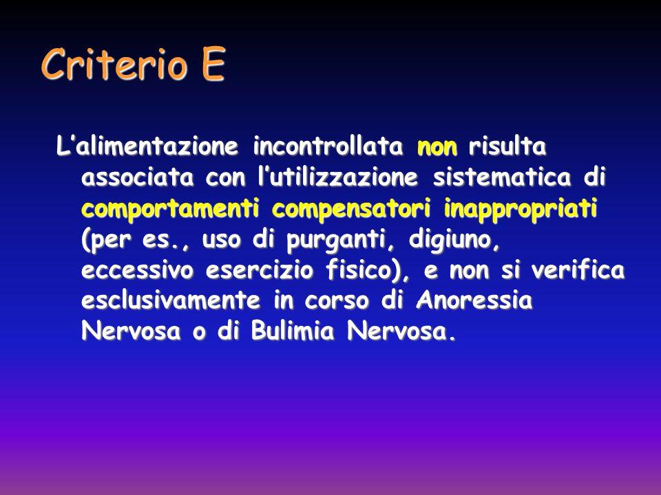 Criterio E