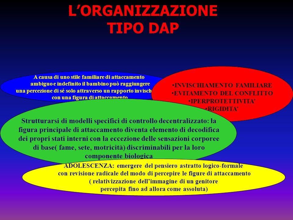 L'ORGANIZZAZIONE TIPO DAP