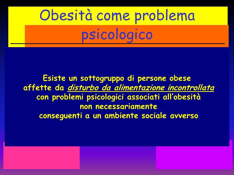 Obesità come problema psicologico