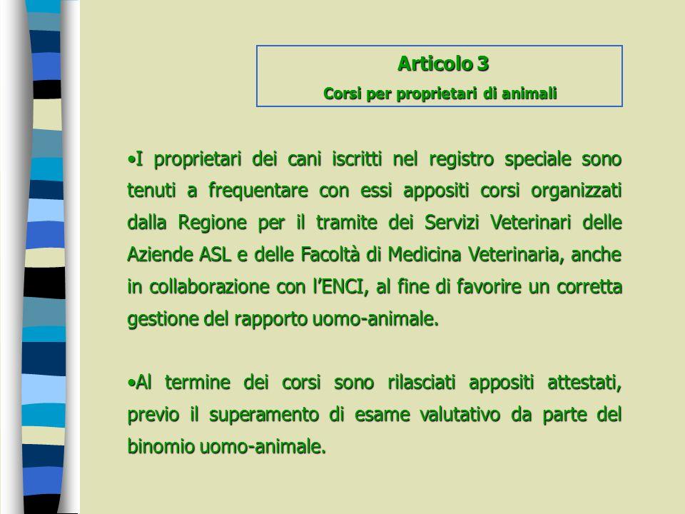 Corsi per proprietari di animali