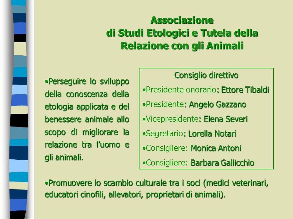 Associazione di Studi Etologici e Tutela della Relazione con gli Animali