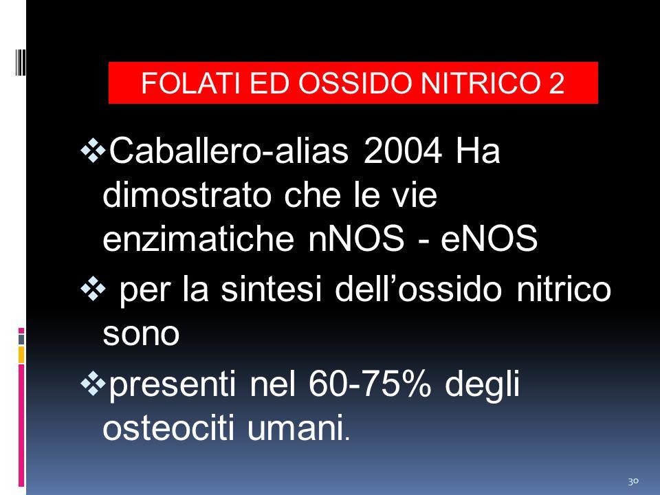 FOLATI ED OSSIDO NITRICO 2