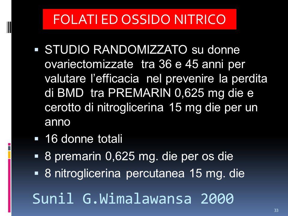 FOLATI ED OSSIDO NITRICO