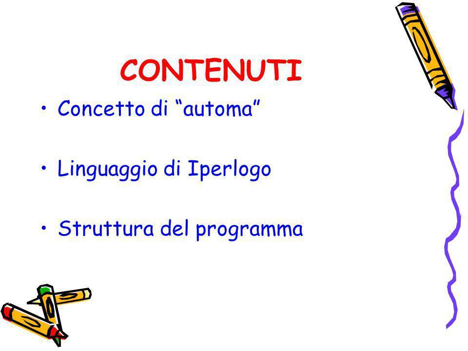 CONTENUTI Concetto di automa Linguaggio di Iperlogo