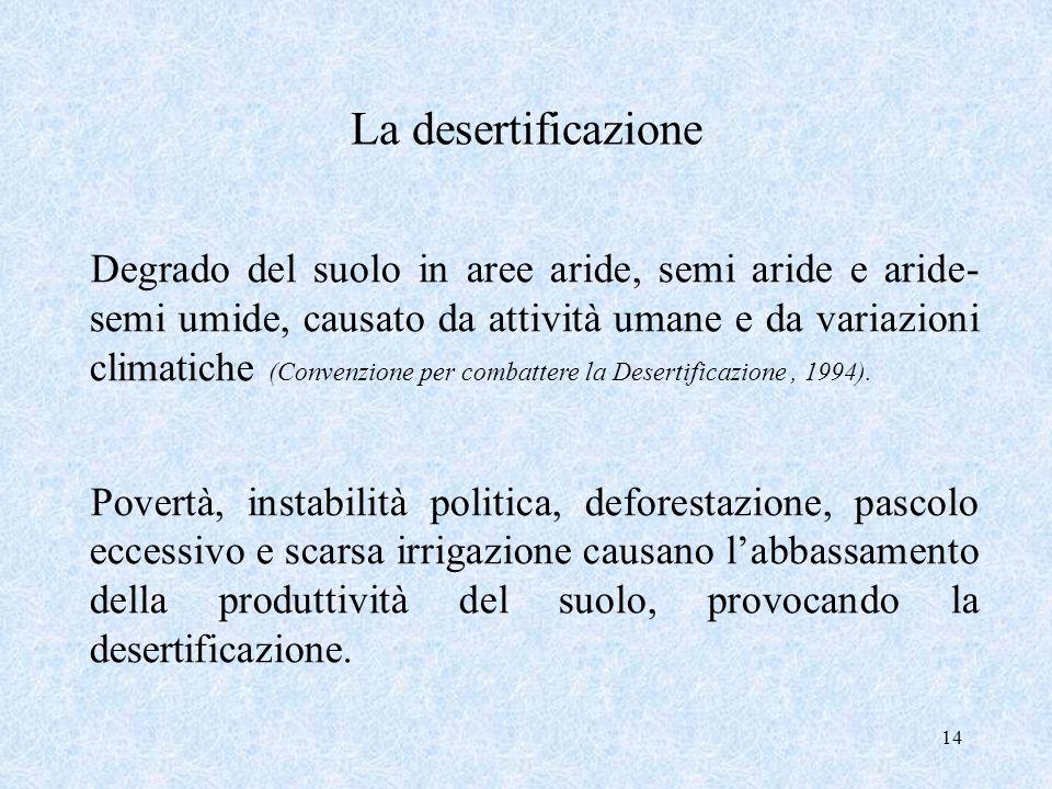 La desertificazione