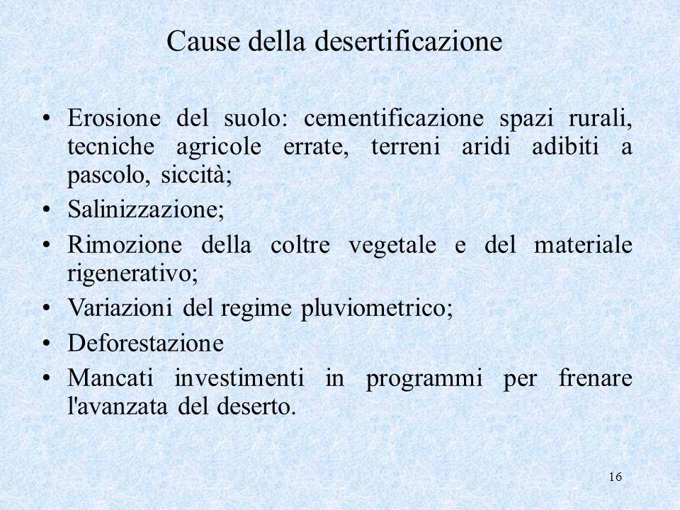 Cause della desertificazione