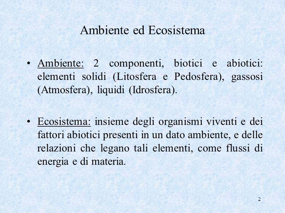 Ambiente ed Ecosistema
