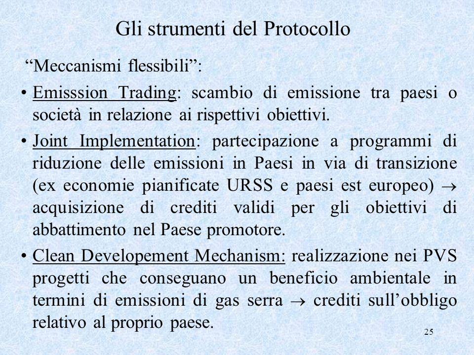 Gli strumenti del Protocollo