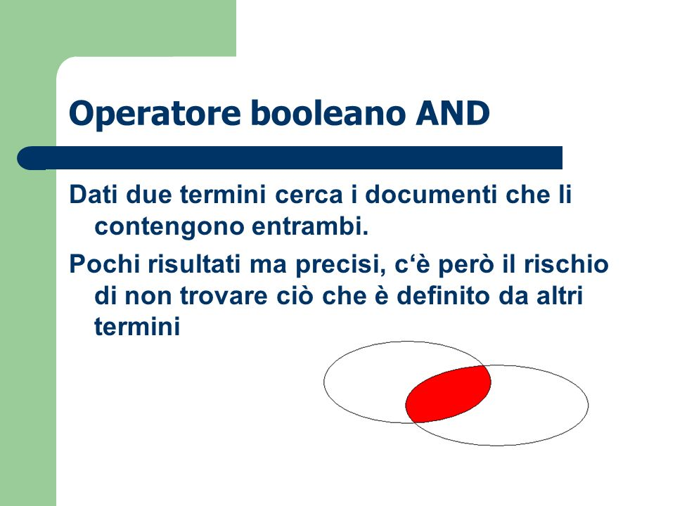 Operatore booleano AND