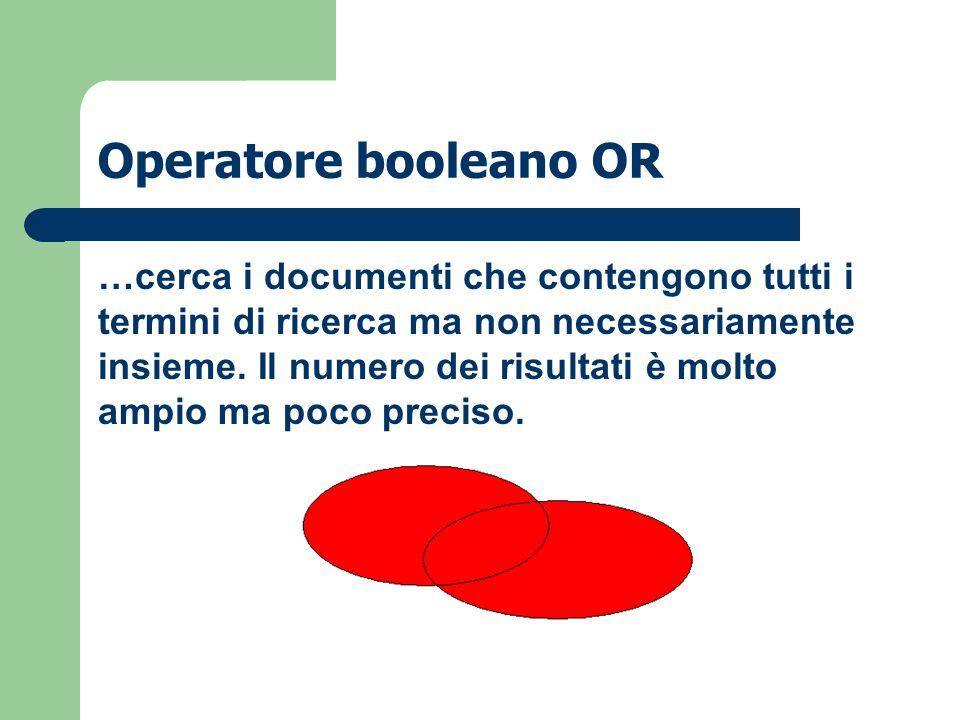 Operatore booleano OR