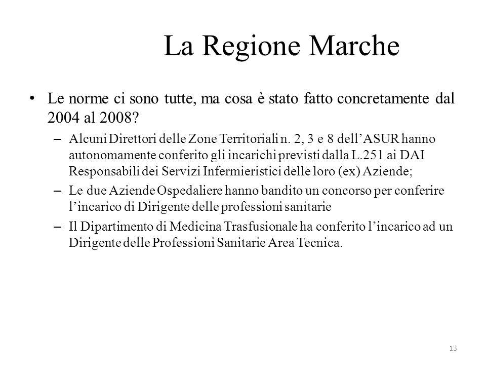 La Regione Marche Le norme ci sono tutte, ma cosa è stato fatto concretamente dal 2004 al 2008
