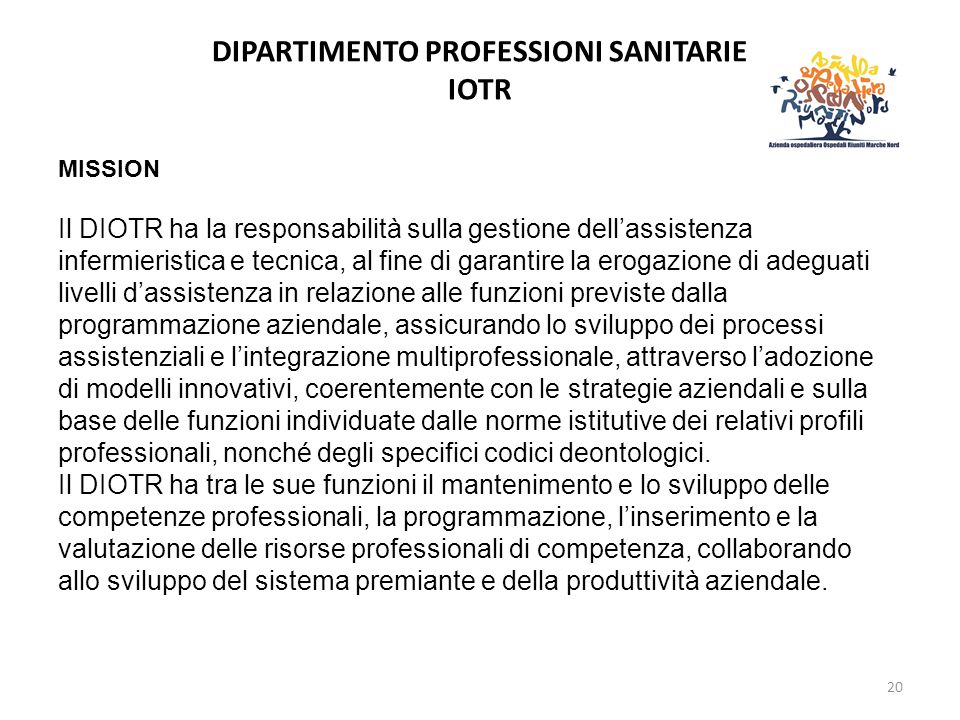 DIPARTIMENTO PROFESSIONI SANITARIE IOTR