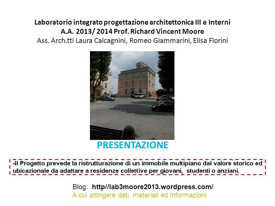 Laboratorio integrato progettazione architettonica III e Interni