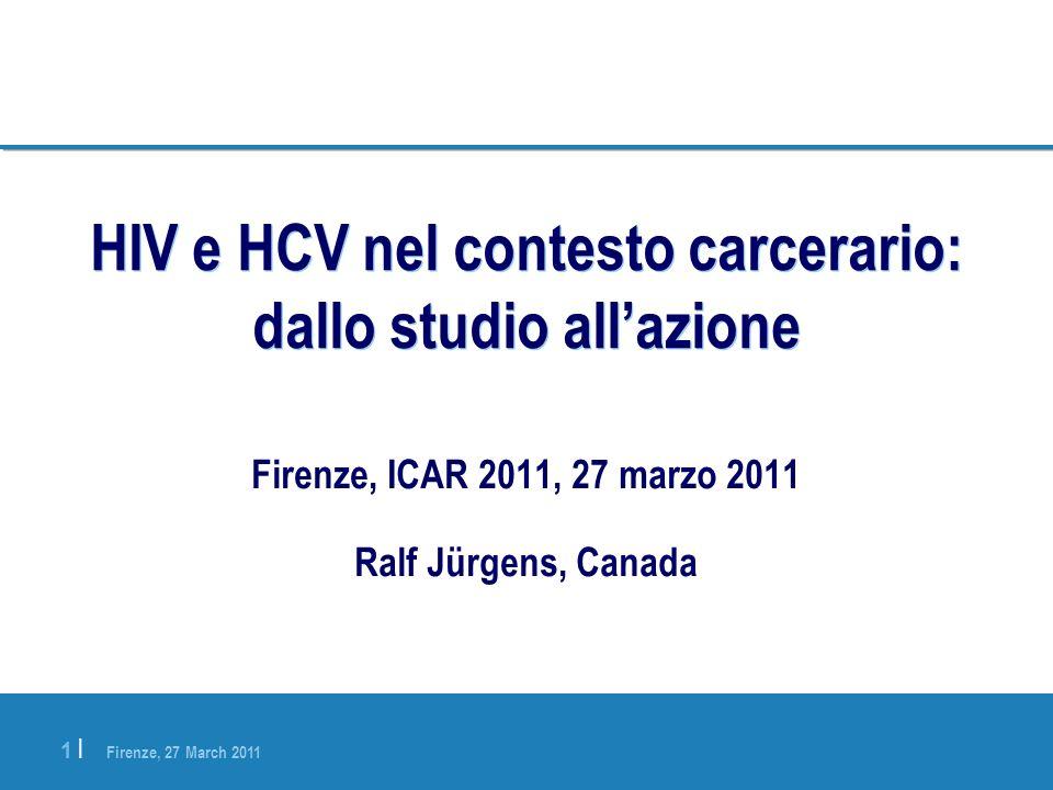 HIV e HCV nel contesto carcerario: dallo studio all'azione