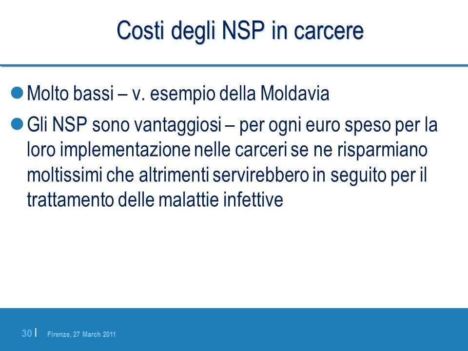 Costi degli NSP in carcere