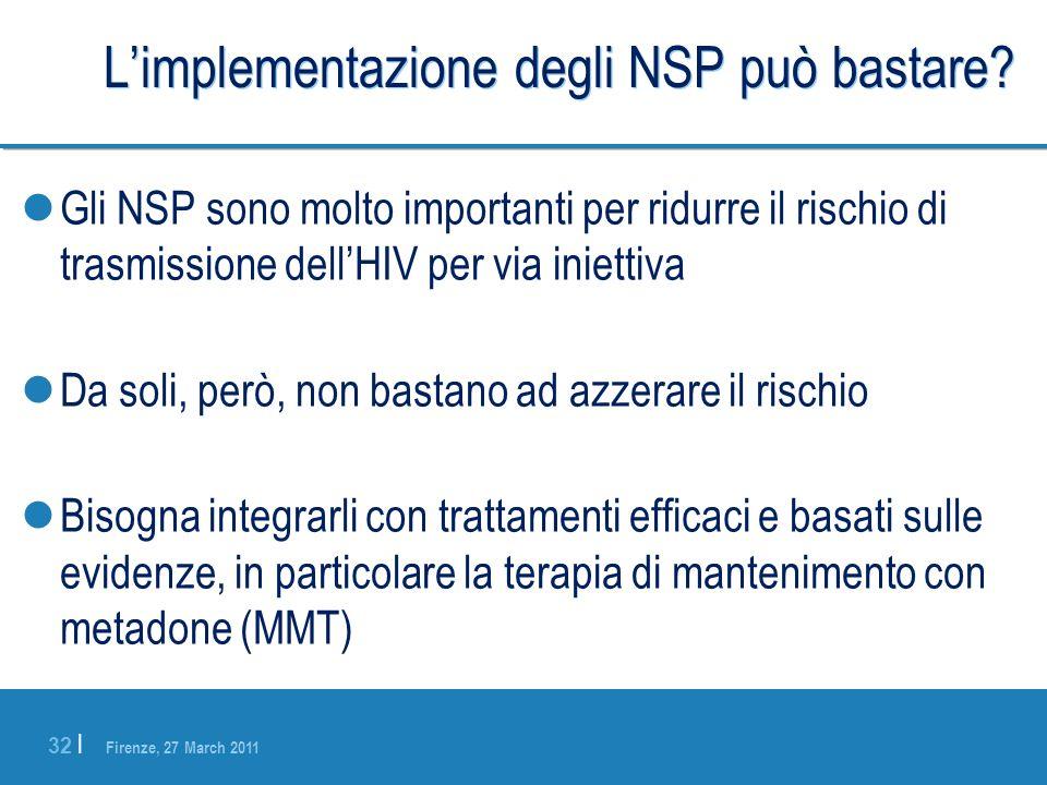 L'implementazione degli NSP può bastare