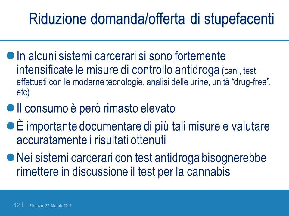 Riduzione domanda/offerta di stupefacenti