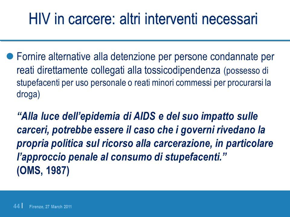 HIV in carcere: altri interventi necessari