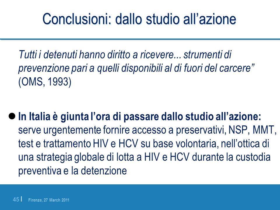 Conclusioni: dallo studio all'azione