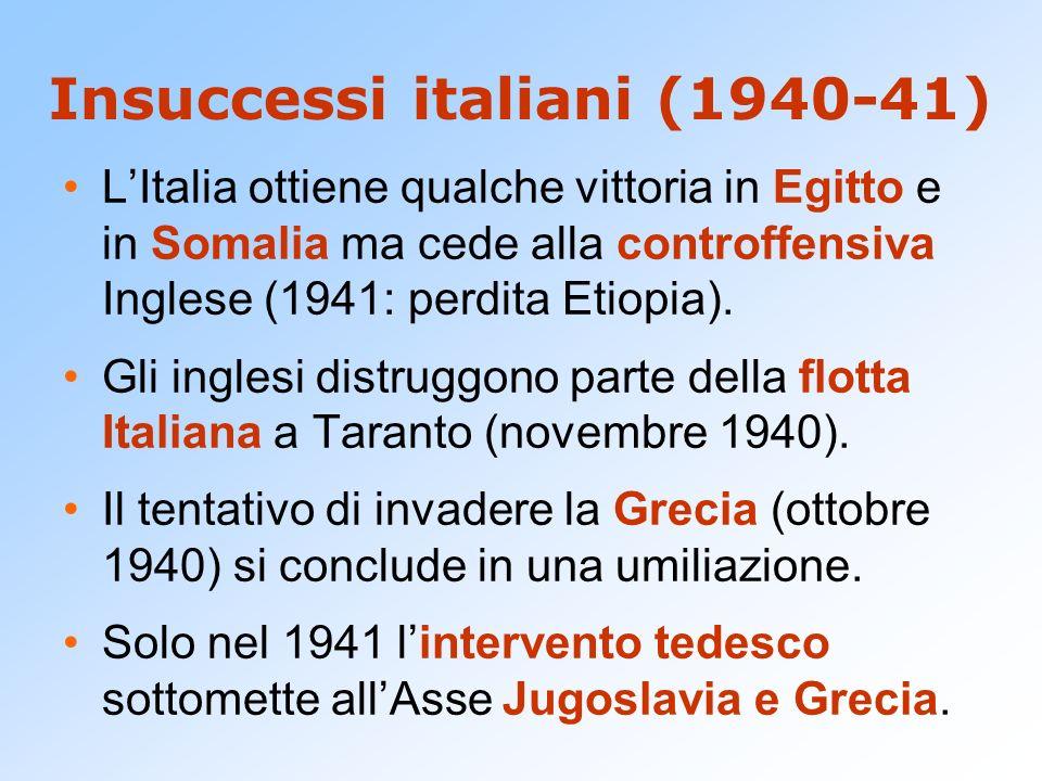 Insuccessi italiani (1940-41)