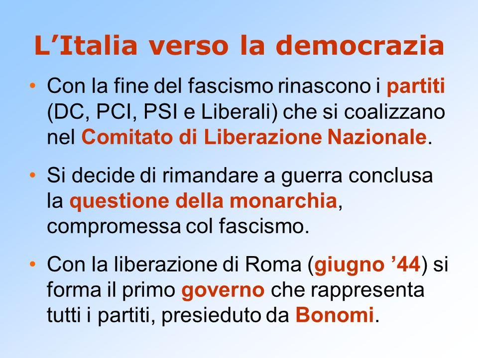 L'Italia verso la democrazia