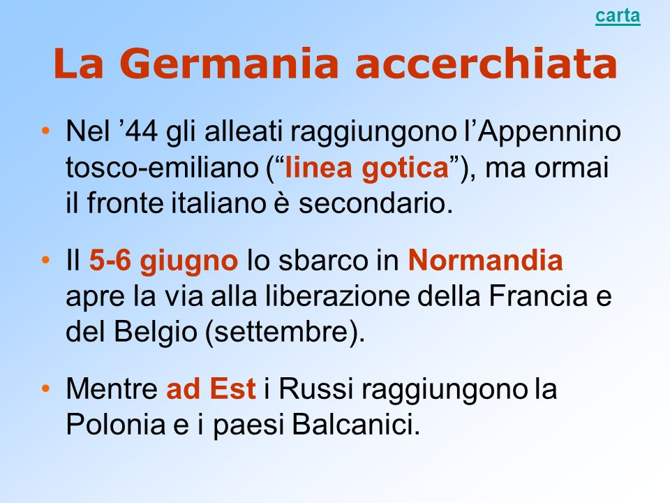 La Germania accerchiata