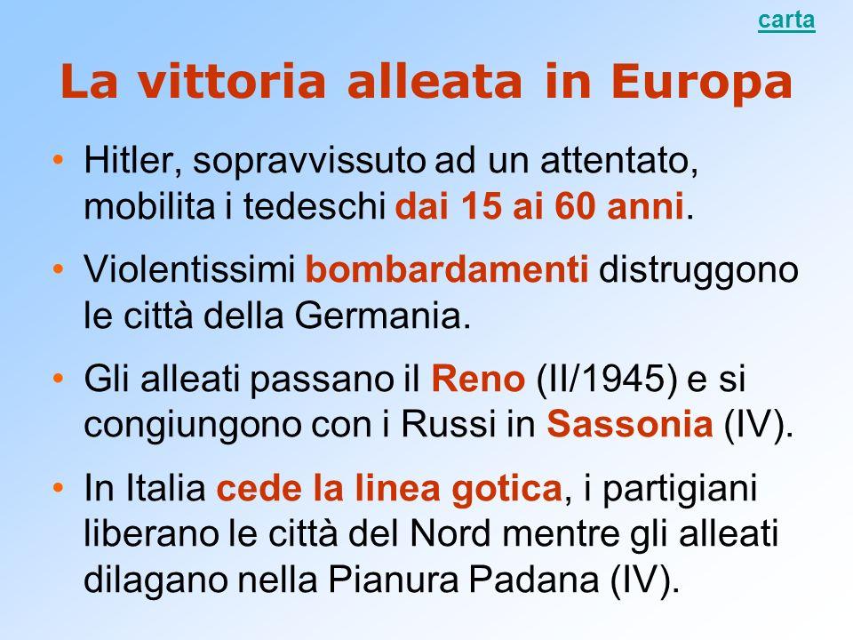 La vittoria alleata in Europa