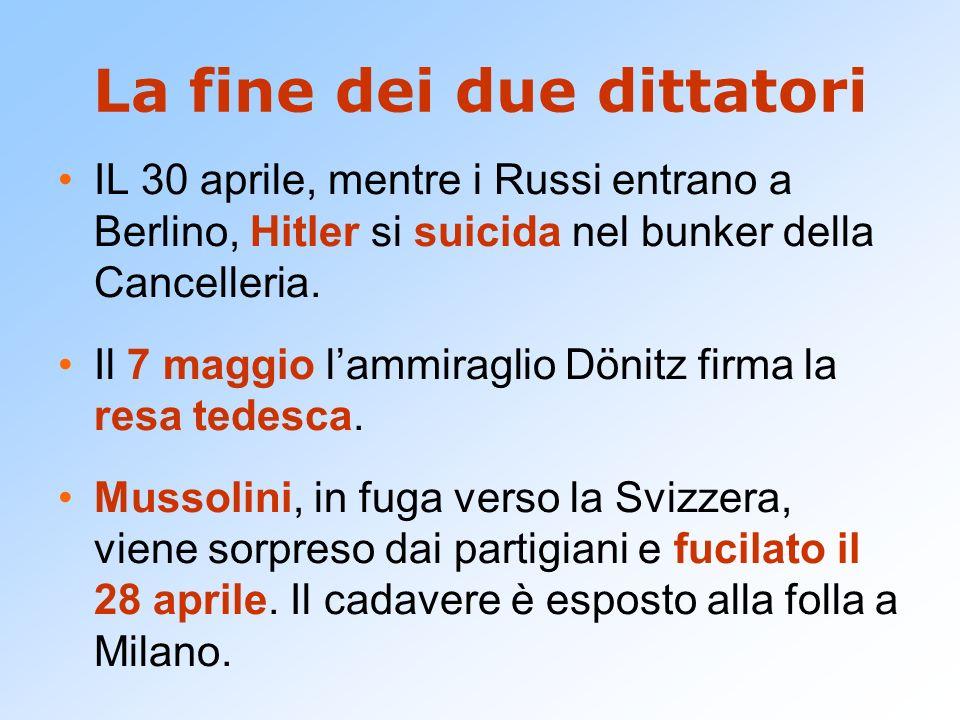La fine dei due dittatori