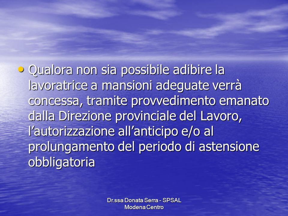 Dr.ssa Donata Serra - SPSAL Modena Centro