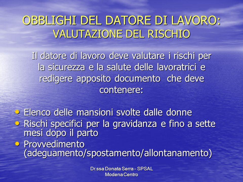 OBBLIGHI DEL DATORE DI LAVORO: VALUTAZIONE DEL RISCHIO