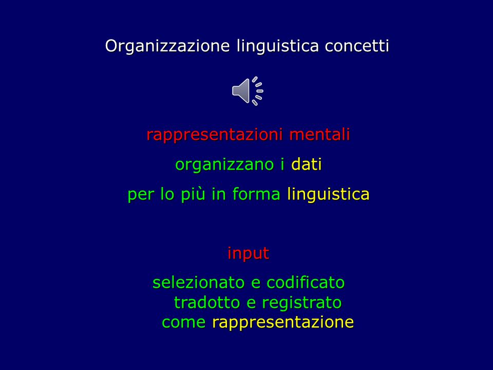 Organizzazione linguistica concetti