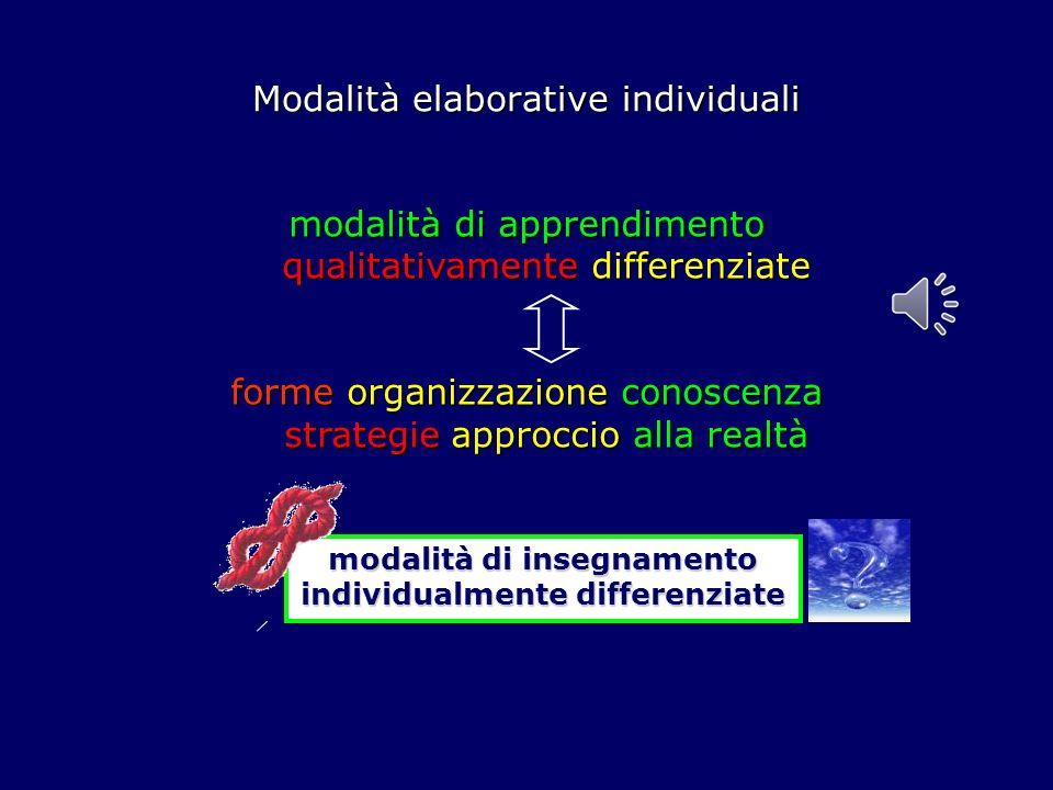 Modalità elaborative individuali