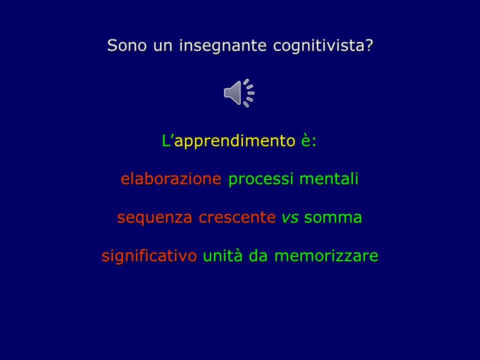 Sono un insegnante cognitivista