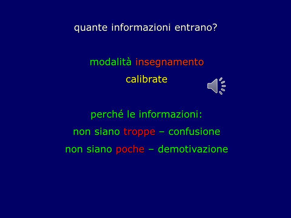 quante informazioni entrano
