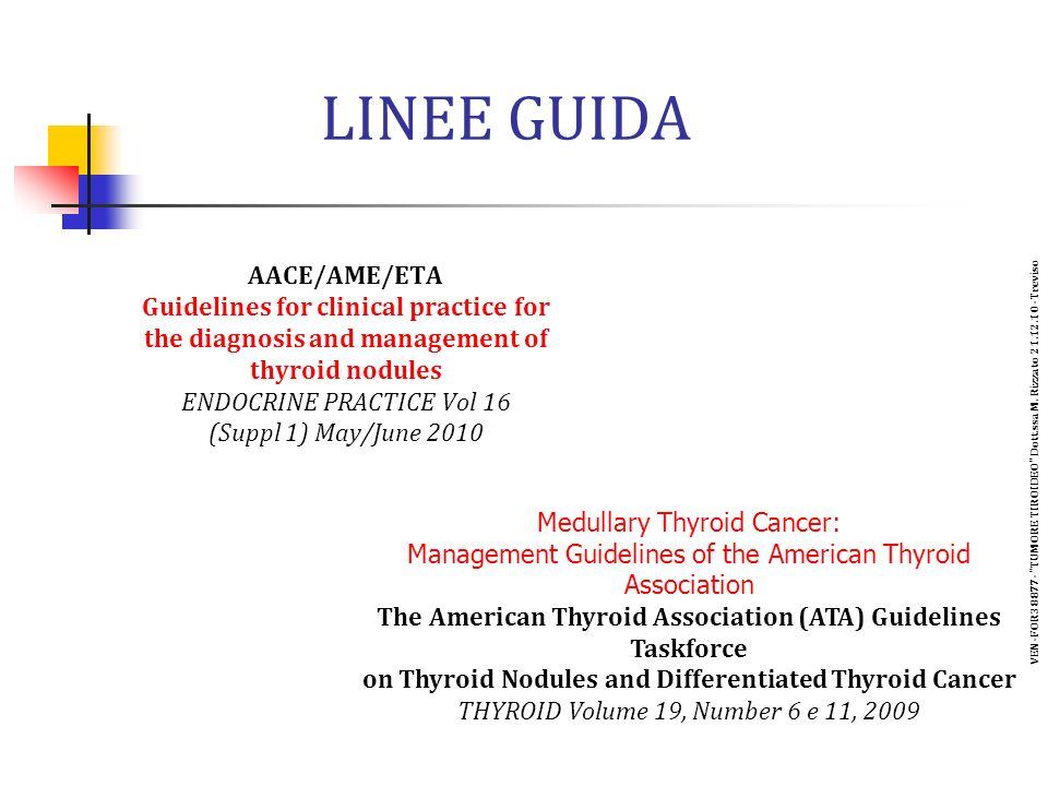 LINEE GUIDA AACE/AME/ETA Guidelines for clinical practice for