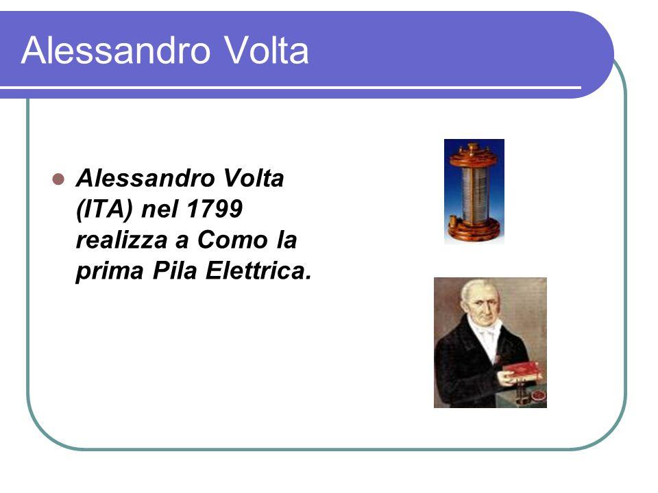 Alessandro Volta Alessandro Volta (ITA) nel 1799 realizza a Como la prima Pila Elettrica.