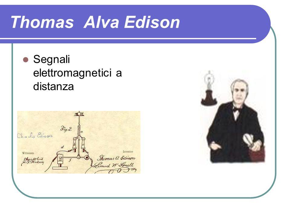 Thomas Alva Edison Segnali elettromagnetici a distanza