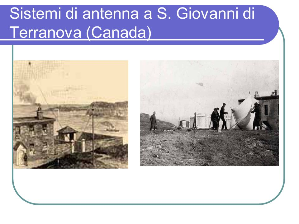 Sistemi di antenna a S. Giovanni di Terranova (Canada)
