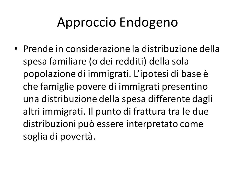 Approccio Endogeno