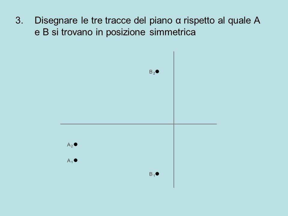 Disegnare le tre tracce del piano α rispetto al quale A e B si trovano in posizione simmetrica