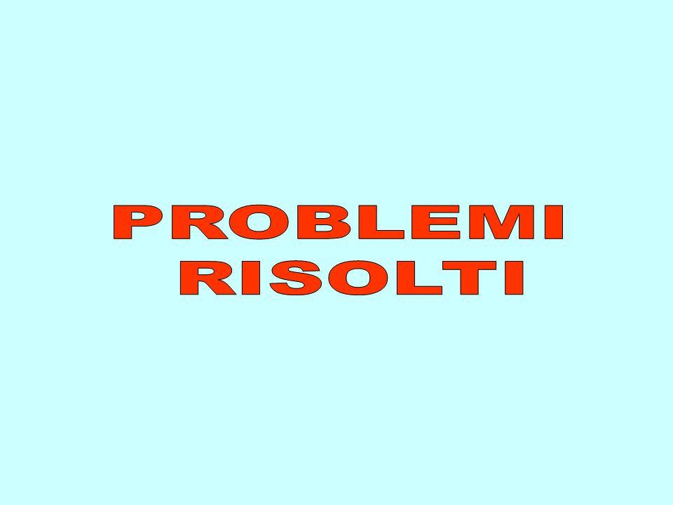 PROBLEMI RISOLTI