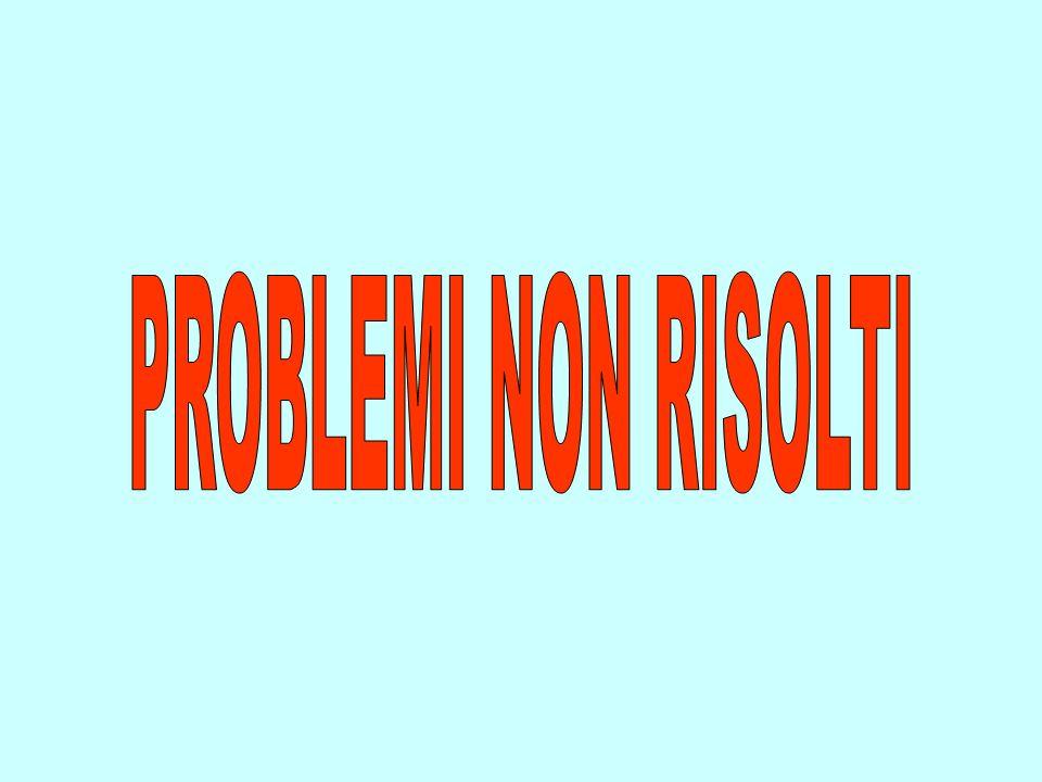 PROBLEMI NON RISOLTI