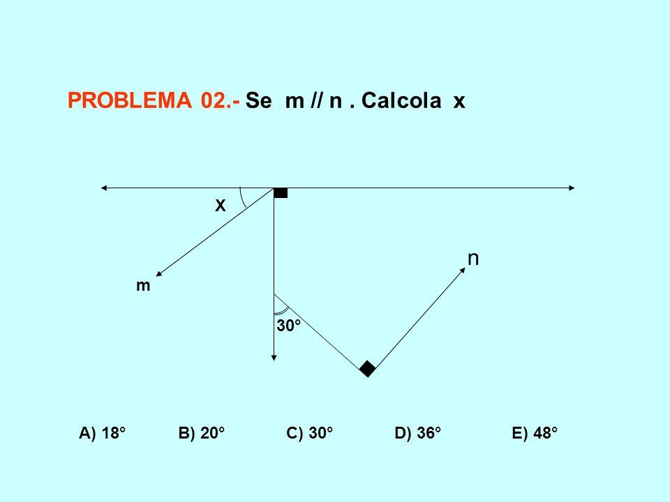 PROBLEMA 02.- Se m // n . Calcola x