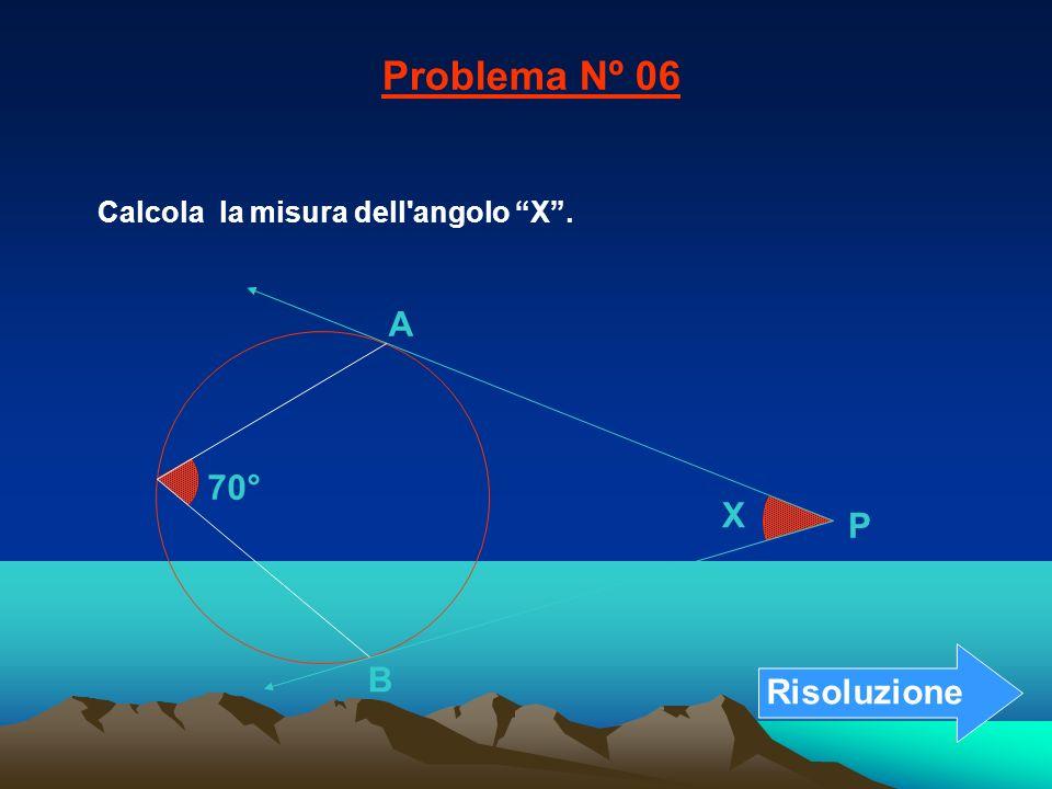 Problema Nº 06 A 70° X P B Risoluzione