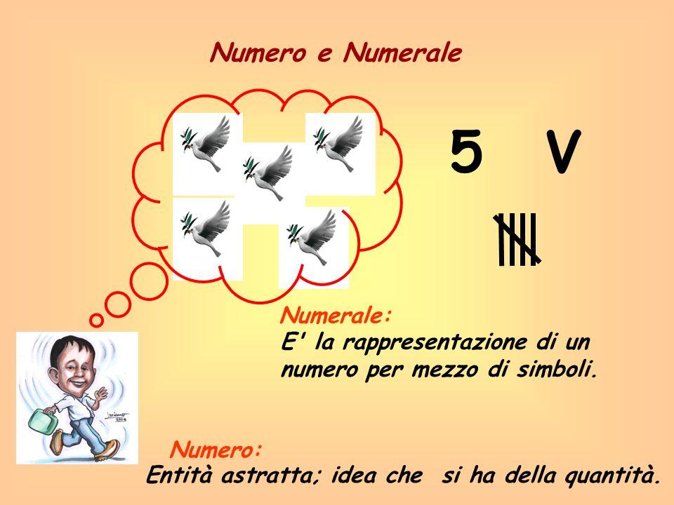 5 V Numero e Numerale Numerale: