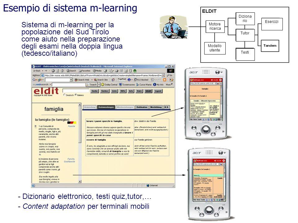 Esempio di sistema m-learning