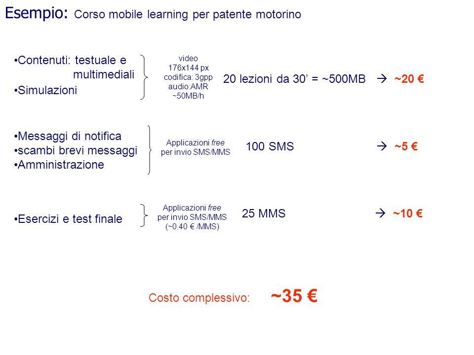Esempio: Corso mobile learning per patente motorino