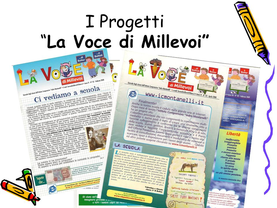 I Progetti La Voce di Millevoi