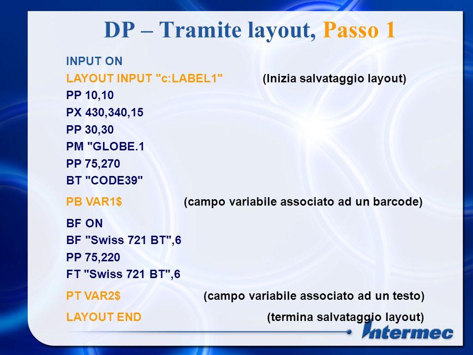 DP – Tramite layout, Passo 1