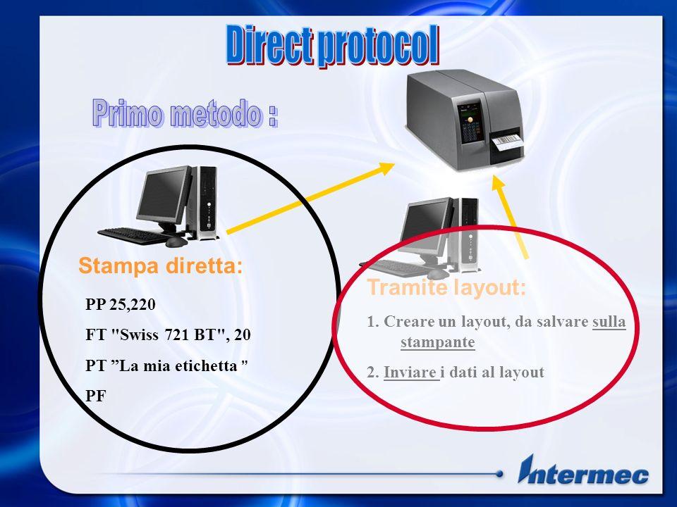 Direct protocol Primo metodo : Stampa diretta: Tramite layout: